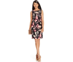 Ivanka Trump  - Sleeveless Floral-Print Popover Dress
