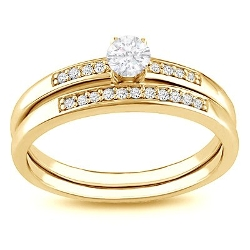 FineTresor - Diamond Engagement Ring Bridal Set