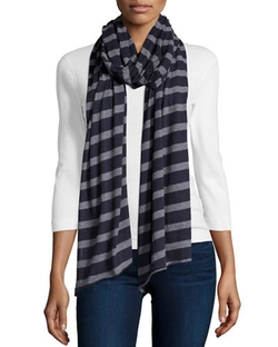 Majestic Paris for Neiman Marcus	  - Striped Cashmere-Blend Scarf