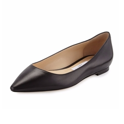 Jimmy Choo - Romy Leather Ballerina Flats