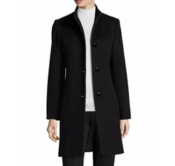 Fleurette - Mock-Neck Wool Coat