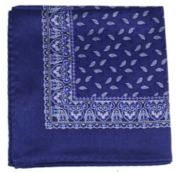 Truman & Sons - Bandana Paisley Print Silk Pocket Square