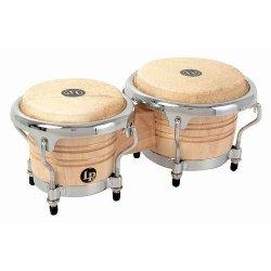 Latin Percussion - Mini Tunable Natural Wood Bongos Drum