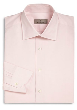 Canali - Regular-Fit Solid Dress Shirt