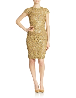 Tadashi Shoji  - Soutache-Embroidered Sheath Dress
