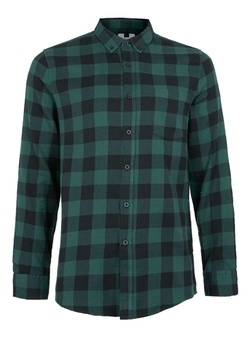 Topman - Check Long Sleeve Casual Shirt