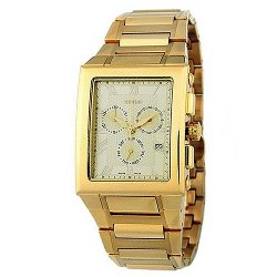 Geiger  - Rectangular Face Steel Band Watch