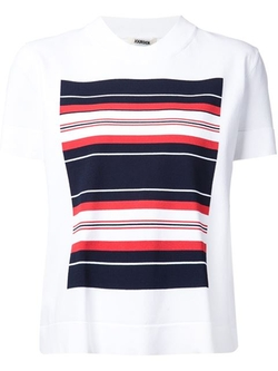 Jourden - Stripe Print Detail T-Shirt