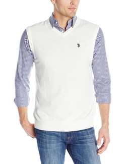U.S. Polo Assn. - Solid V-Neck Sweater Vest
