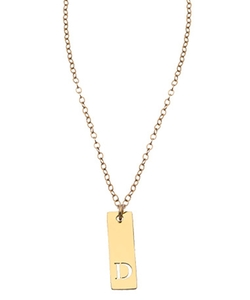 Miriam Merenfeld - Extra Small Vertical Bar Initial Pendant Necklace
