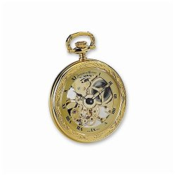 VI Star - Jd Manoir Gold-Tone Brass Pocket Watch