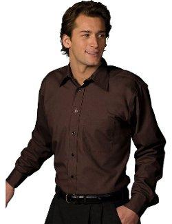 Ed Garments - Long Sleeve Point Collar Poplin Shirt