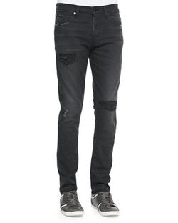 J Brand Jeans  - Mick Destroyed Skinny-Fit Jeans