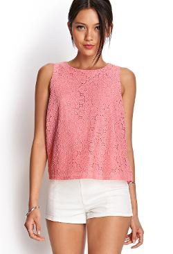 Forever21 - Crochet Lace Tank Top