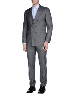 Brunello Cucinelli - Lapel Colar Double Breasted Suit