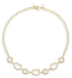 Ron Hami - Secret Blossom  Gold Geometric Necklace