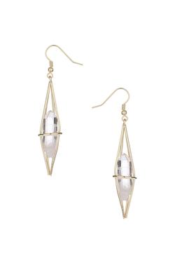 Topshop - Semi-Precious Caged Earrings