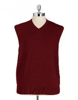 BLACK BROWN 1826  - Supima Cotton V-Neck Sweater Vest