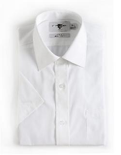 BLACK BROWN - Short-Sleeved Cotton Dress Shirt