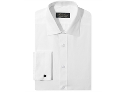Michelsons of London  - Slim-Fit Chevron Texture French Cuff Shirt