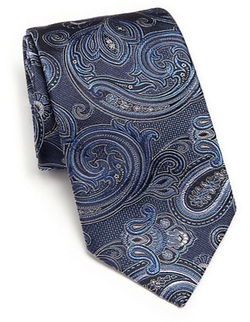 Ike Behar  - Medallion Paisley Silk Tie