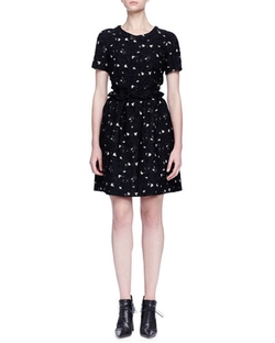 Lanvin - Floral Lace Ruffled Fit-And-Flare Dress