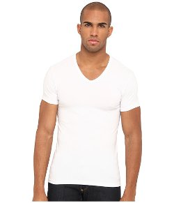 Emporio Armani  - Stretch Cotton V-Neck Tee