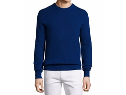 Michael Kors  - Textured Cotton Crewneck Sweater