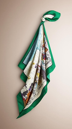 Burberry - Archive Weather Design Silk Square Scarf