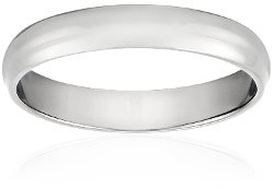 Amazon Curated Collection - White Gold Traditional Wedding Band