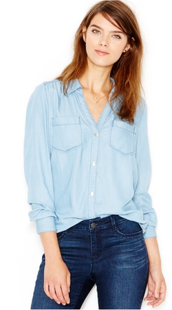 Maison Jules - Long-Sleeve Chambray Shirt