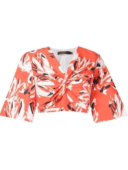 Andrea Marques - Floral Cropped Blouse