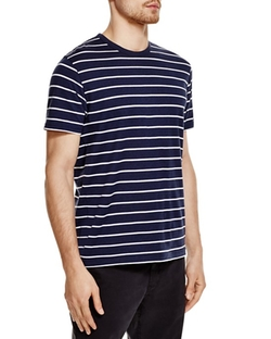 Sunspel  - Striped Crewneck Tee