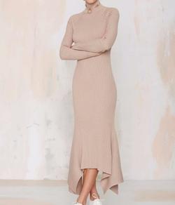 Nasty Gal - Kozmic Ribbed Knit Maxi Dress