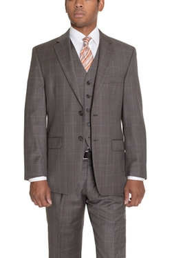 Ralph Lauren - Plaid Two Button Three Piece Wool Suit