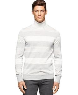 Calvin Klein - Stripe Turtleneck Sweater