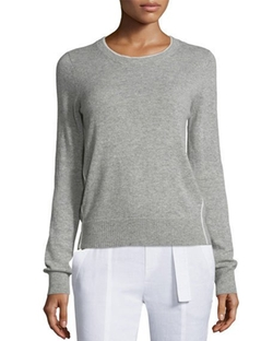Vince - Contrast Tipping Crewneck Sweater