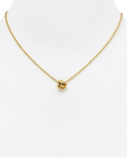 Kate Spade New York  - Dainty Sparklers Knot Pendant Necklace
