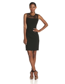 Calvin Klein - Sleeveless Spoke Cutout-Neckline Dress