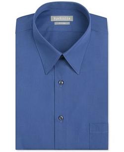Van Heusen - Fitted Poplin Solid Dress Shirt