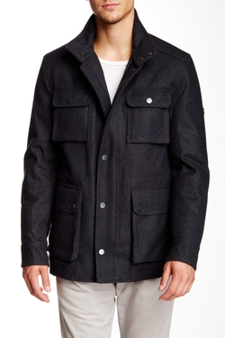 Ben Sherman  - Melton Field Wool Blend Jacket
