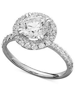 Arabella  - Swarovski Zirconia Round Pave Engagement Ring