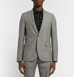 Paul Smith - Prince of Wales Check Mohair and Wool-Blend Suit Jacket