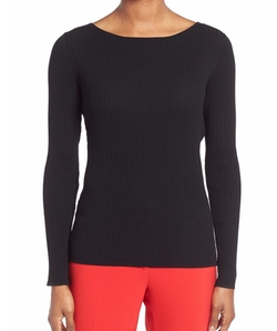 Classiques Entier - Wide Ribbed Ballet Neck Sweater