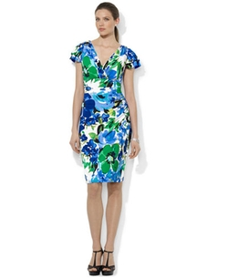 Lauren Ralph Lauren - Floral-Print Flutter-Sleeve Dress