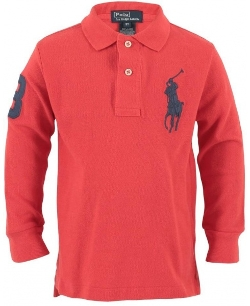 Ralph Lauren - Kids Big Pony Long Sleeve Polo Shirt