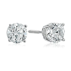 Amazon Collection - Round-Cut Diamond Stud Earrings