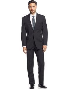 Calvin Klein - Stripe Slim-Fit Suit