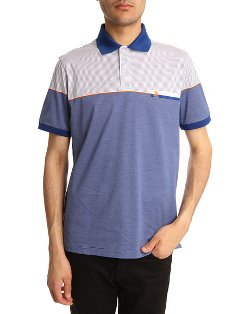 Dunhill - White and Blue Polo Shirt