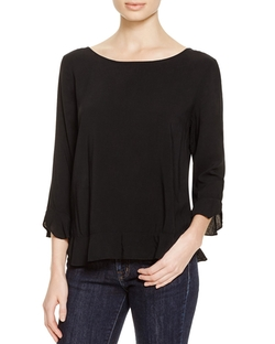 Velvet By Graham & Spencer - Challis Ruffle Blouse